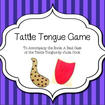 Pin The Tongue A Tattle Tongue Game Teaching Social Skills