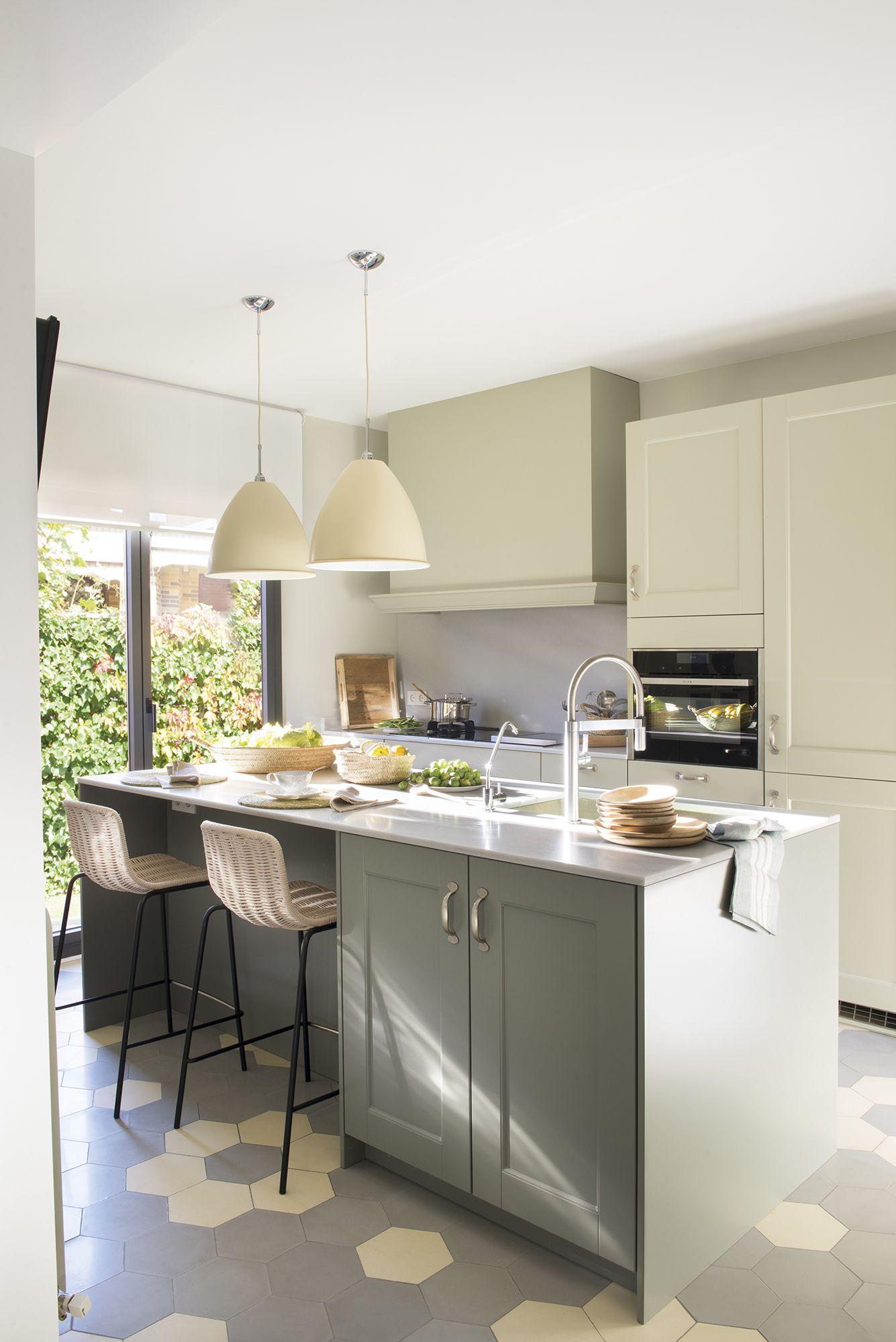 La cocina con isla es muy cómoda | diseño interior e ideas ...