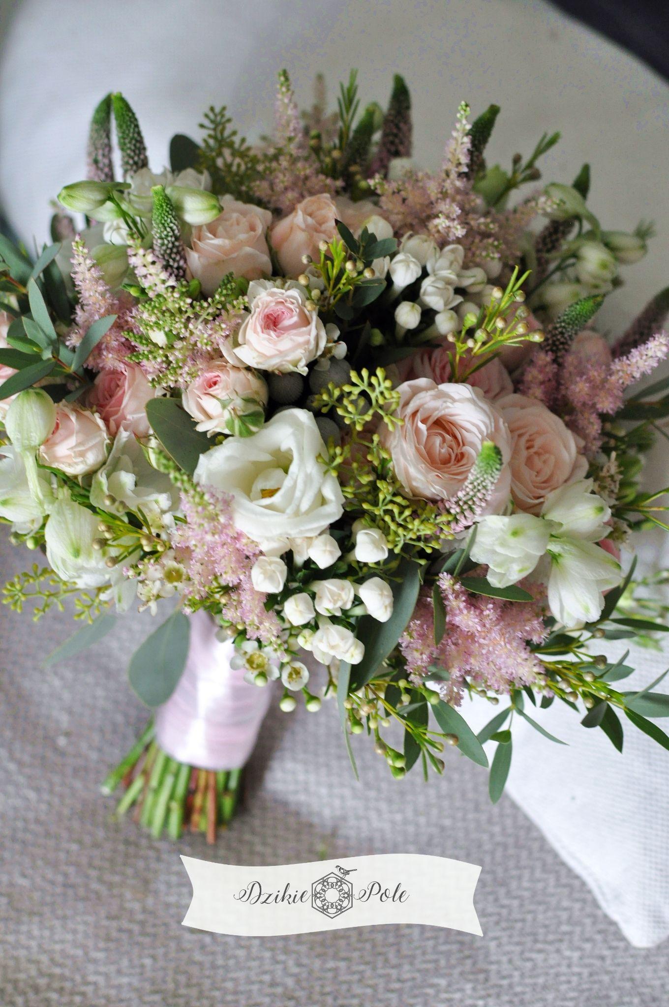 Rustykalny Bukiet Slubny Eustoma Roza Tawulka Rustykalny Slub Rustic Wedding Bouquet Wedding Bouquets Floral Event Design Bouquet