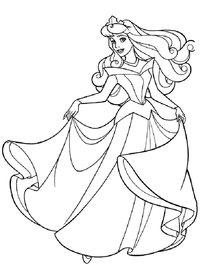 Coloriage princesse à imprimer (Disney, Reine des Neiges, ...)   Coloriage princesse, Coloriage ...