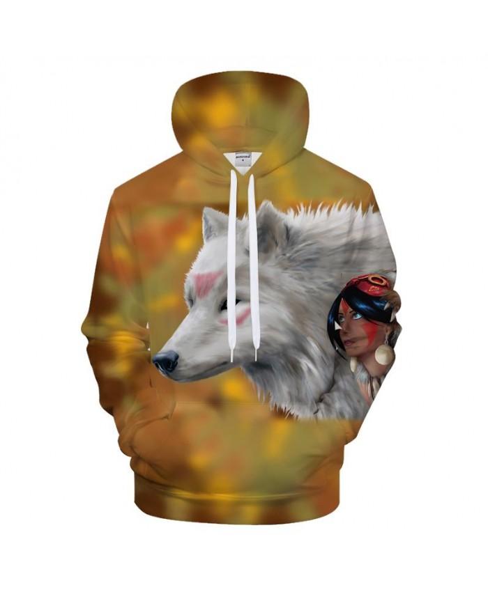 Photo of Anime Wolf 3D Hoodies Sweatshirts Men Hoody Streetwear Tracksuit Funny Pullover …