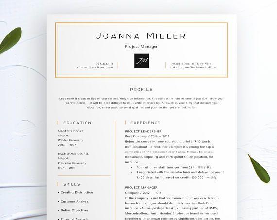Modern Resume Template for Word, Creative, Modern Resume Design