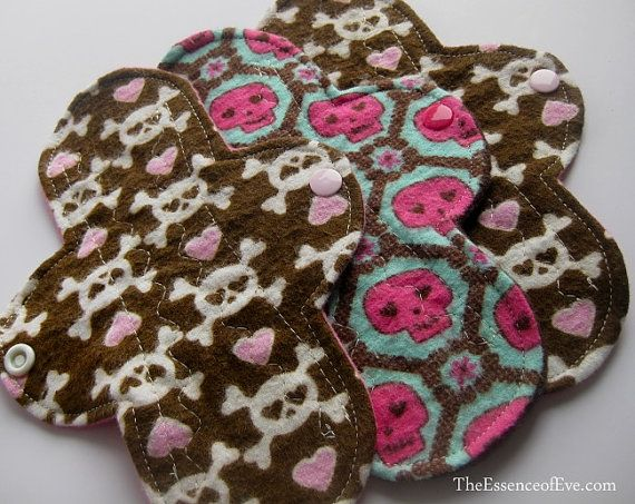 Cloth Panty Liners - Flannel Prints - Set of Three - 7 ...