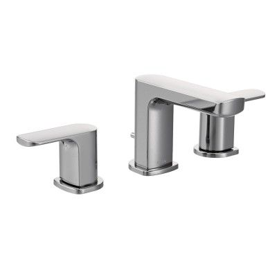 Rizon Chrome Two Handle Low Arc Bathroom Faucet Bathroom Faucets