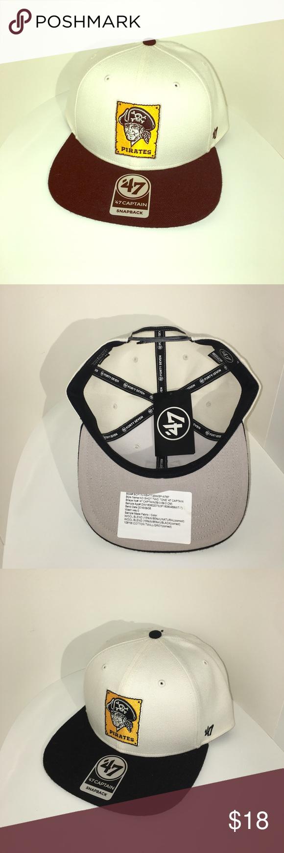'47 Brand Pirates Throwback Logo SnapBack Hat NWT 47