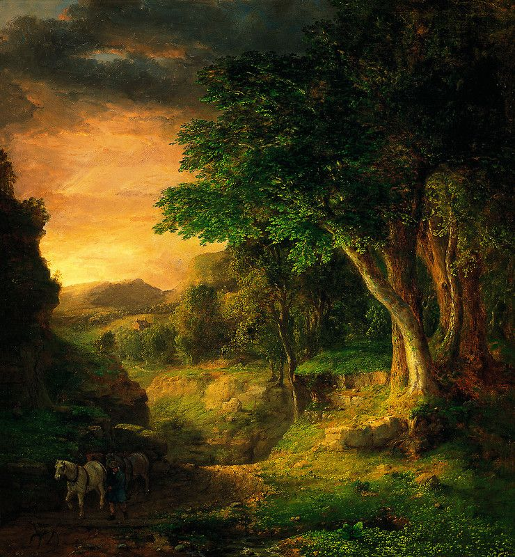 George Inness In the Berkshires.  - Belle lumière qui nous invite au voyage. -