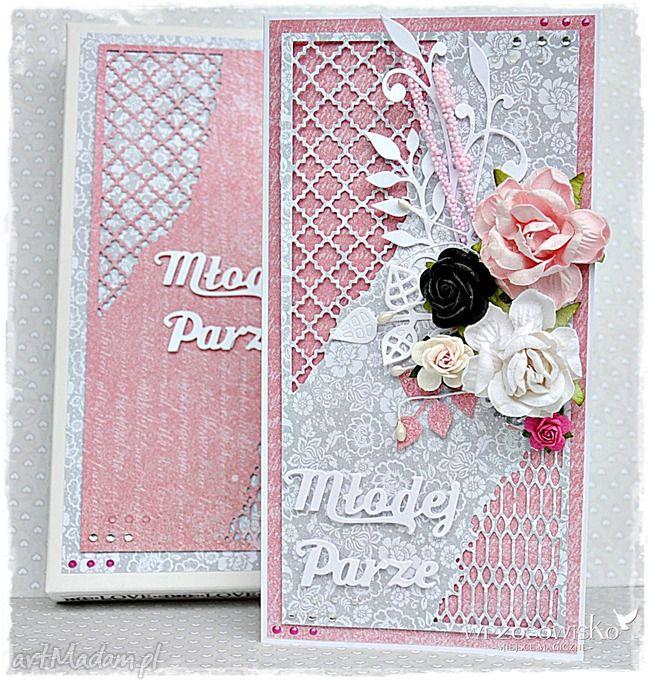 Elegancka kartka ślubna. $10