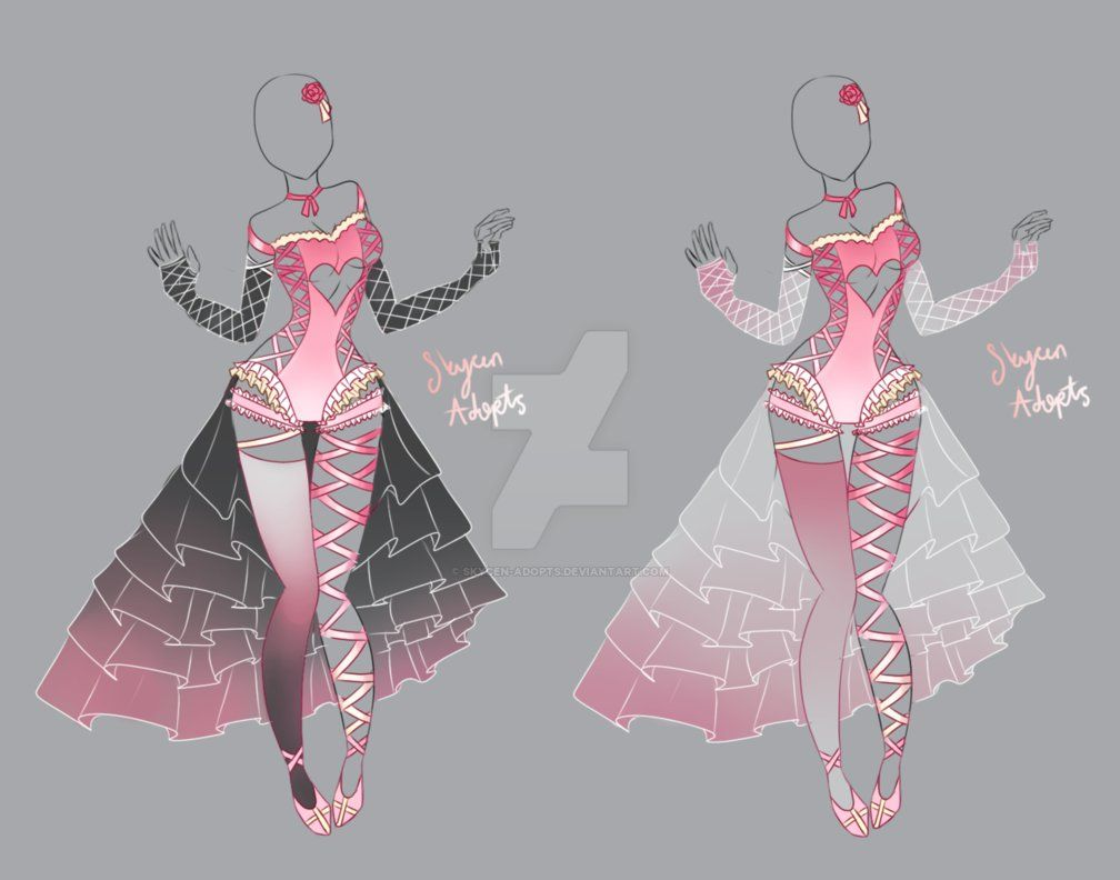 Outfit Adoptable 3   Pink Vampire  OPEN AUCTION by Skycen ...