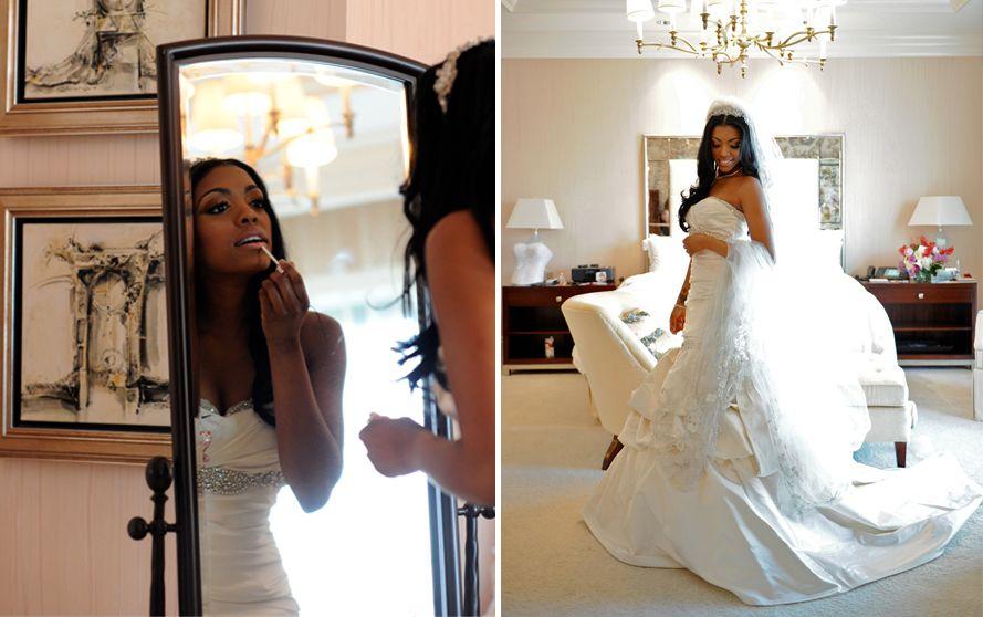 Porsha Stewart Wedding Porsha Kordell Stewarts Wedding Pictures Video Chic Brides Bride Wedding Dresses
