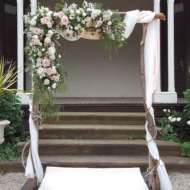 Flower Arch For Wedding: Our #dropdeadgorgeous #weddingarbor Made With Thick