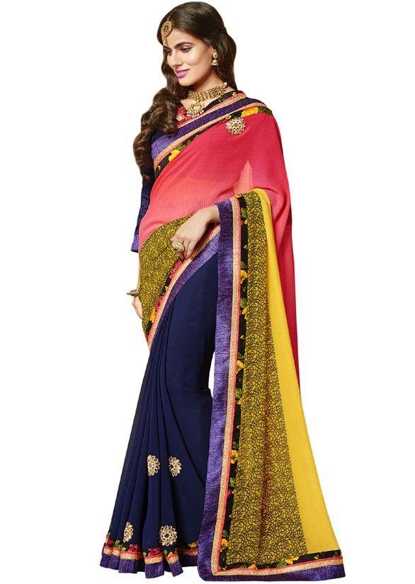 Impressive Multi Color Saree