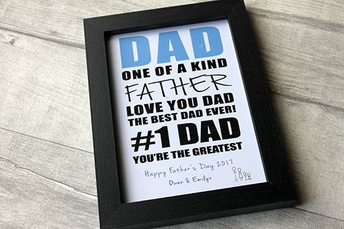 MadeAt94 Daddy Dad Birthday Frame Gift Son Daughter Fathers Day