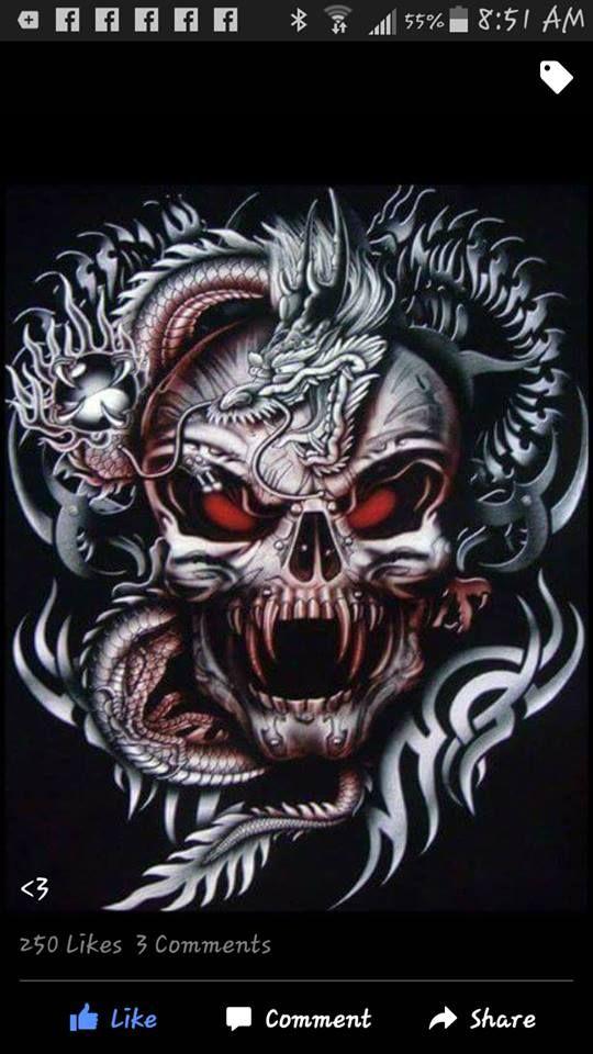 Tattoo Biker Rock Mens T Shirts Japanese Chinese Dragon Gothic Vampire Skull Shirt