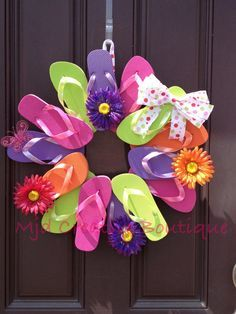 Photo of Flip Flop Wreath, Perfect for Summer Decor