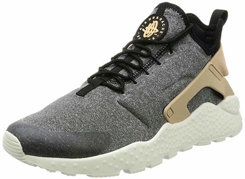 NIKE AIR HUARACHE RUN ULTRA BLACK VACHETTA TAN GREY WHITE 859516 001 #nike # huarache