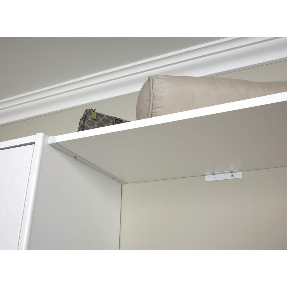 Amazing ClosetMaid Selectives 14 In. White Metal Shelf Support Kit
