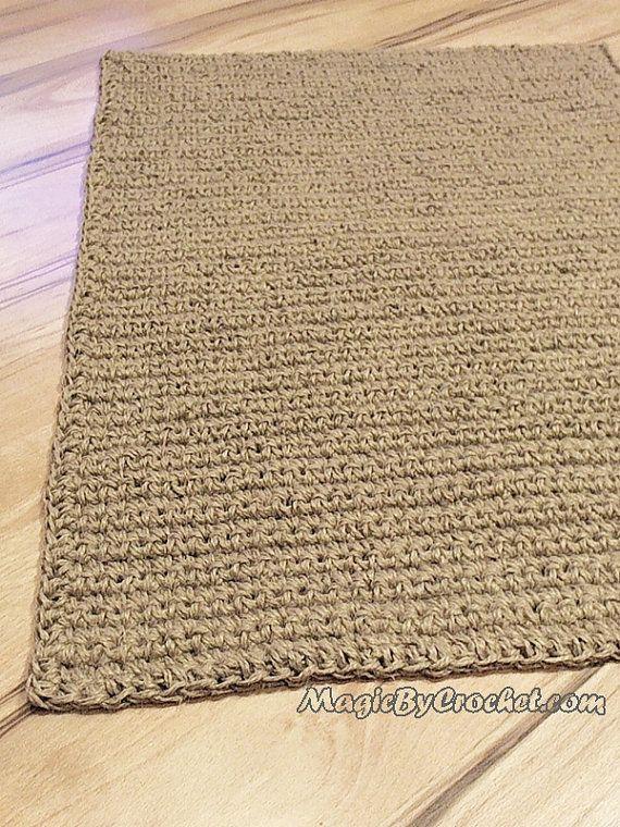 Large Door Mat Crochet Doormat Jute Carpet Area Rug Jute Door