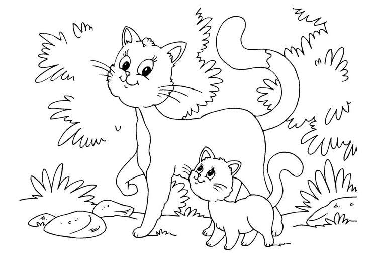 Malvorlage Katze und Kätzchen   MEOW - Cat party   Pinterest ...