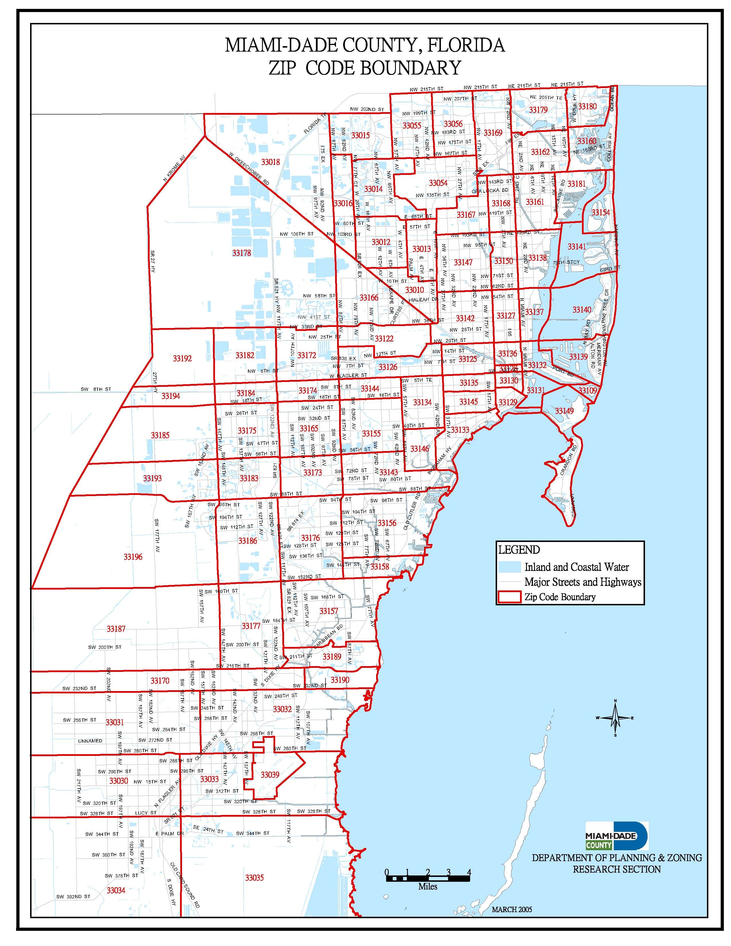 Miami Dade County Zip Code Map Miami Dade Zip Code Map | Zip code map, South florida real estate