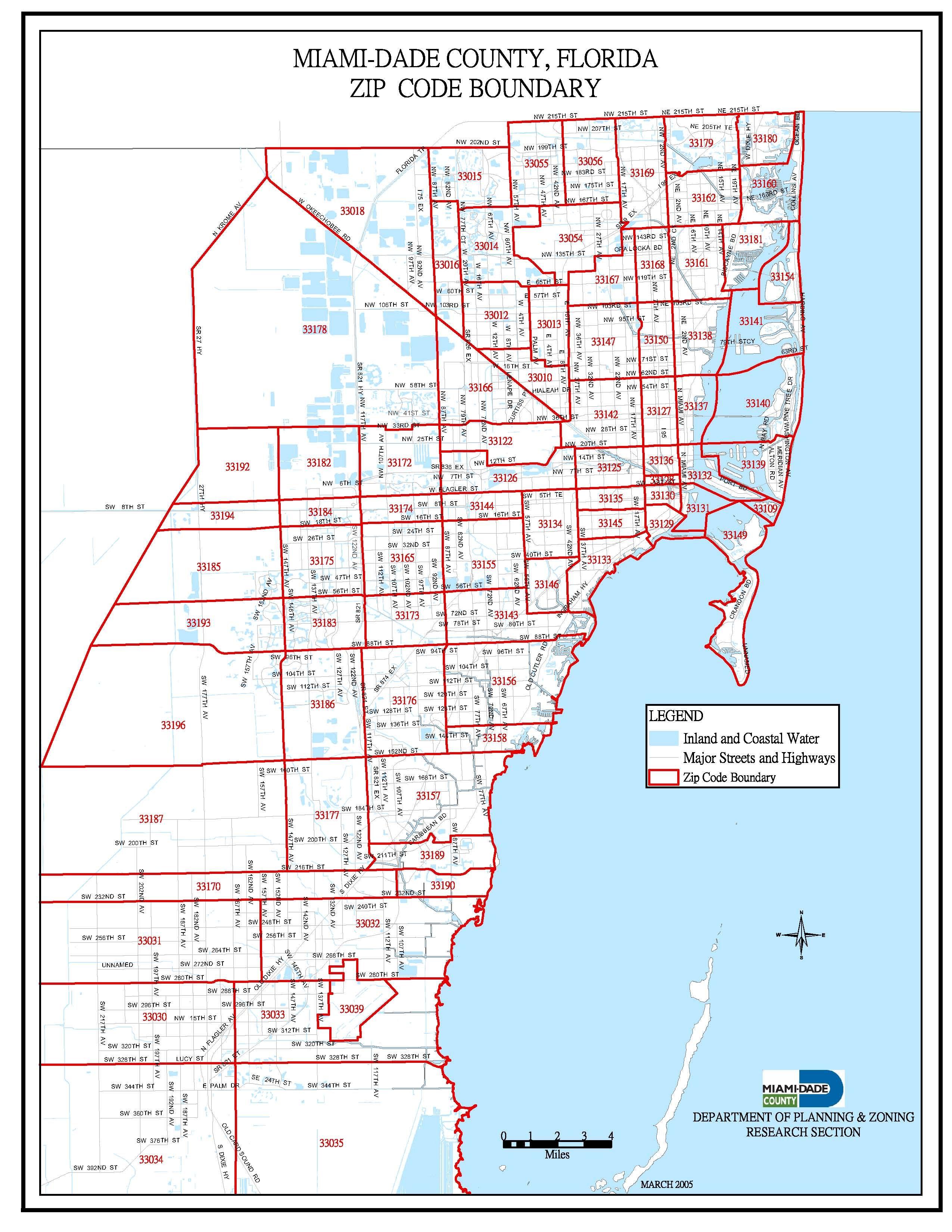 Miami Dade Zip Code Map