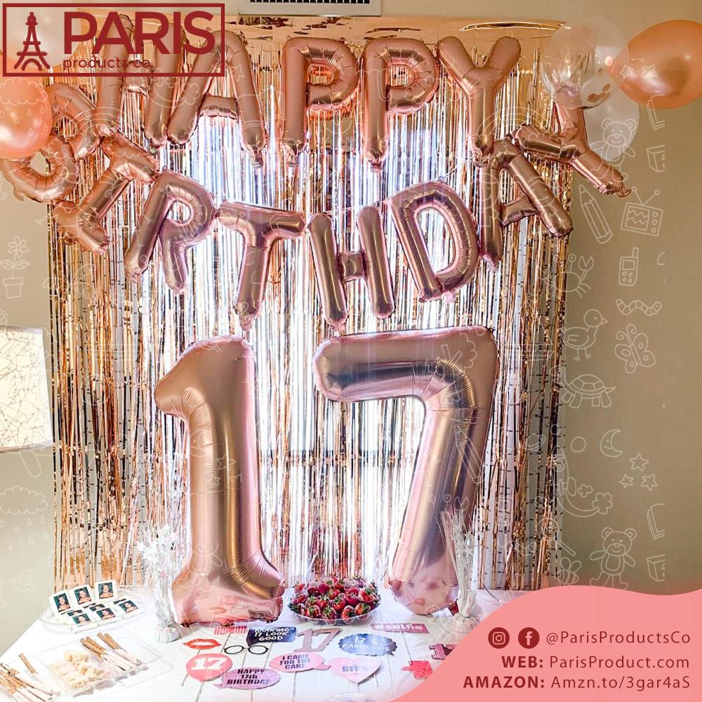 17th Birthday Party Supplies 17th Birthday Glow Birthday Party Birthday Decorations