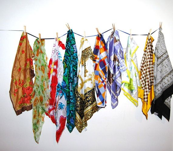Vintage Scarf Collection Four Seasons by CheekyVintageCloset, $28.50