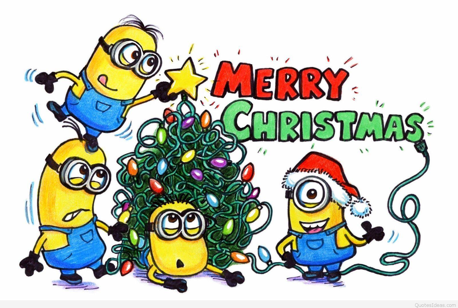 Minions Says Merry Christmas Minion Christmas Minions