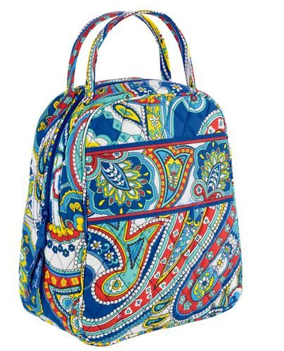 fe4c652eec VERA BRADLEY Lunch Bunch Tote MARINA PAISLEY NWT  school  travel  vacation