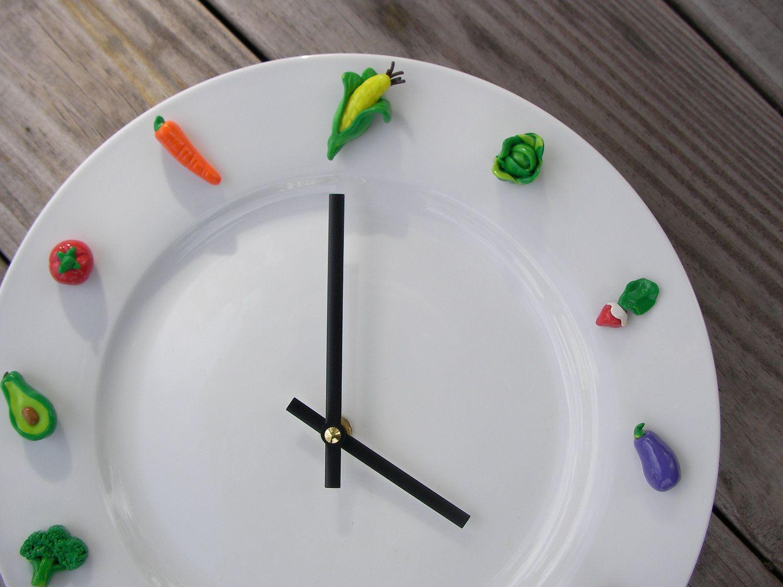 Vegetable Clock Kitchen Wall Clock Unique Clock Wall Clock Etsy Kitchen Wall Clocks Unique Wall Clocks Unique Clocks