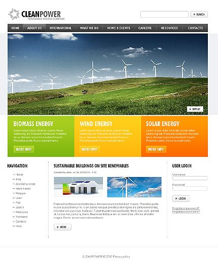 15+ Alternative Power Website Templates Drupal, Template and