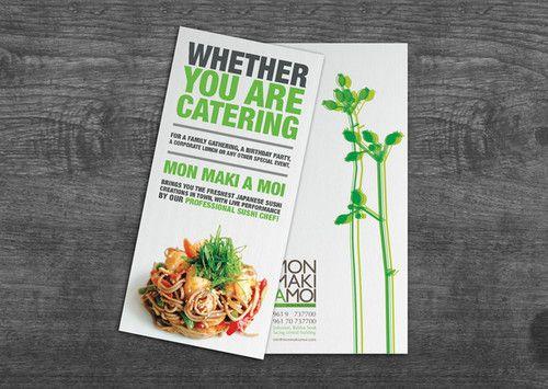 monmaki catering flyer on the behance network | Food | Pinterest ...