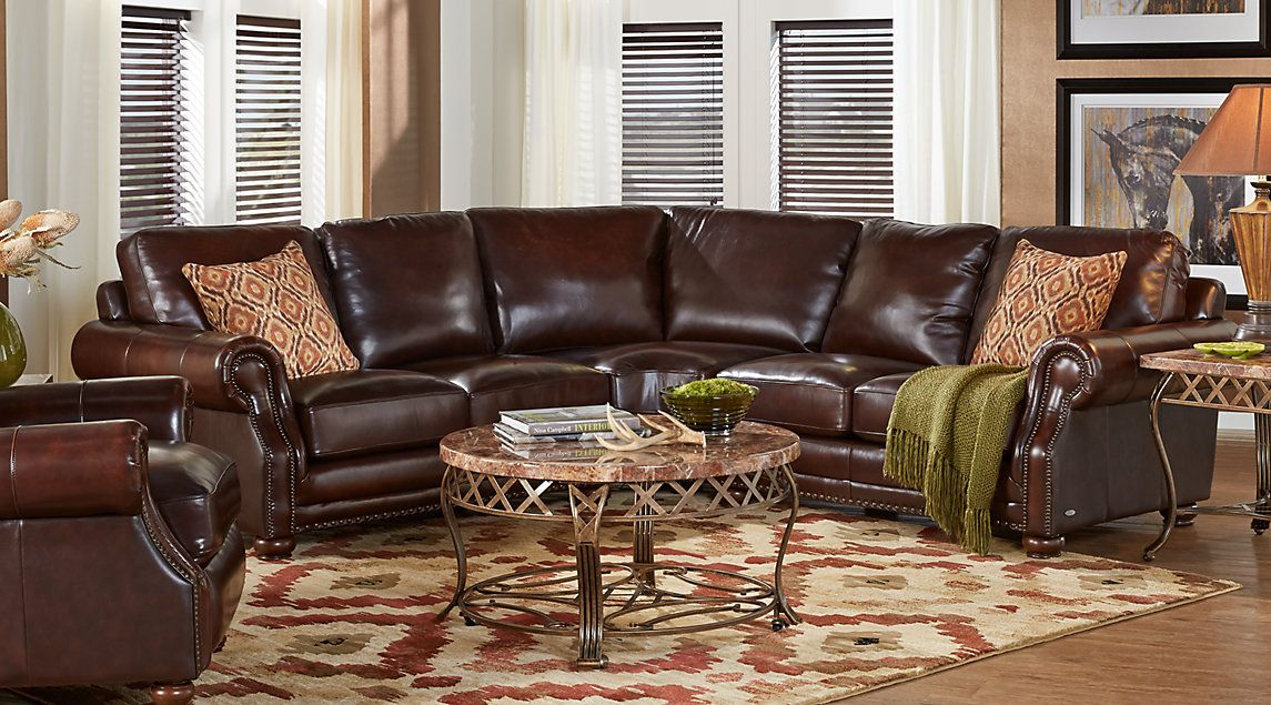 Best Affordable Brown Leather Living Rooms Rooms To Go 400 x 300