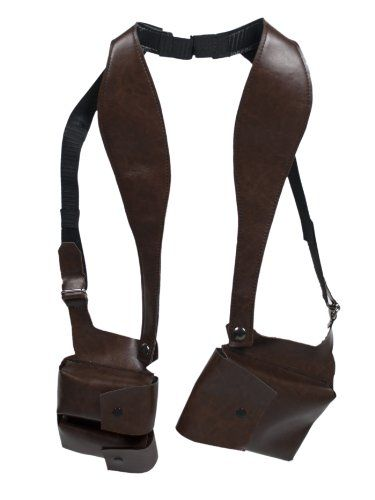 320f34d158 NEW WORLD WALLET - Brown Double Sided Shoulder Holster Style Wallet ...