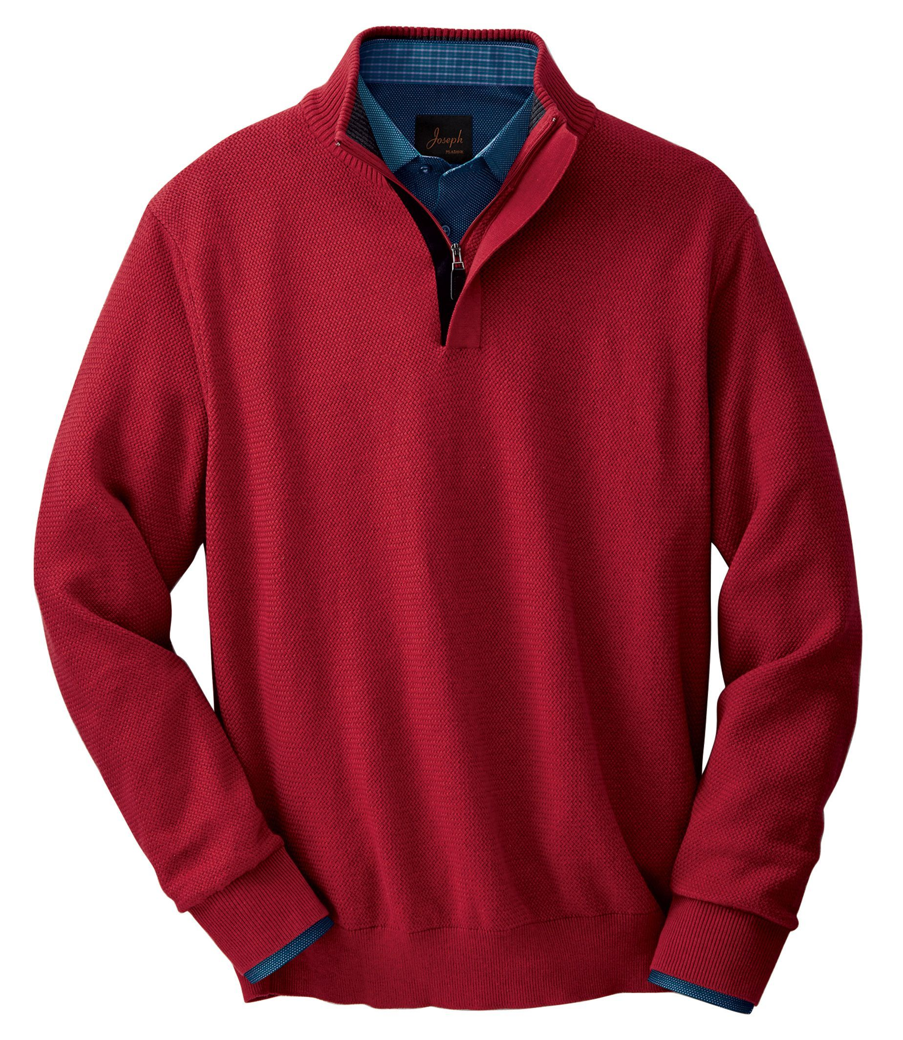 Check This Out Executive Collection Cotton Quarter Zip Sweater From Jos A Bank Clothiers Sweater Outfits Men Business Casual Fall Stylish Sweaters