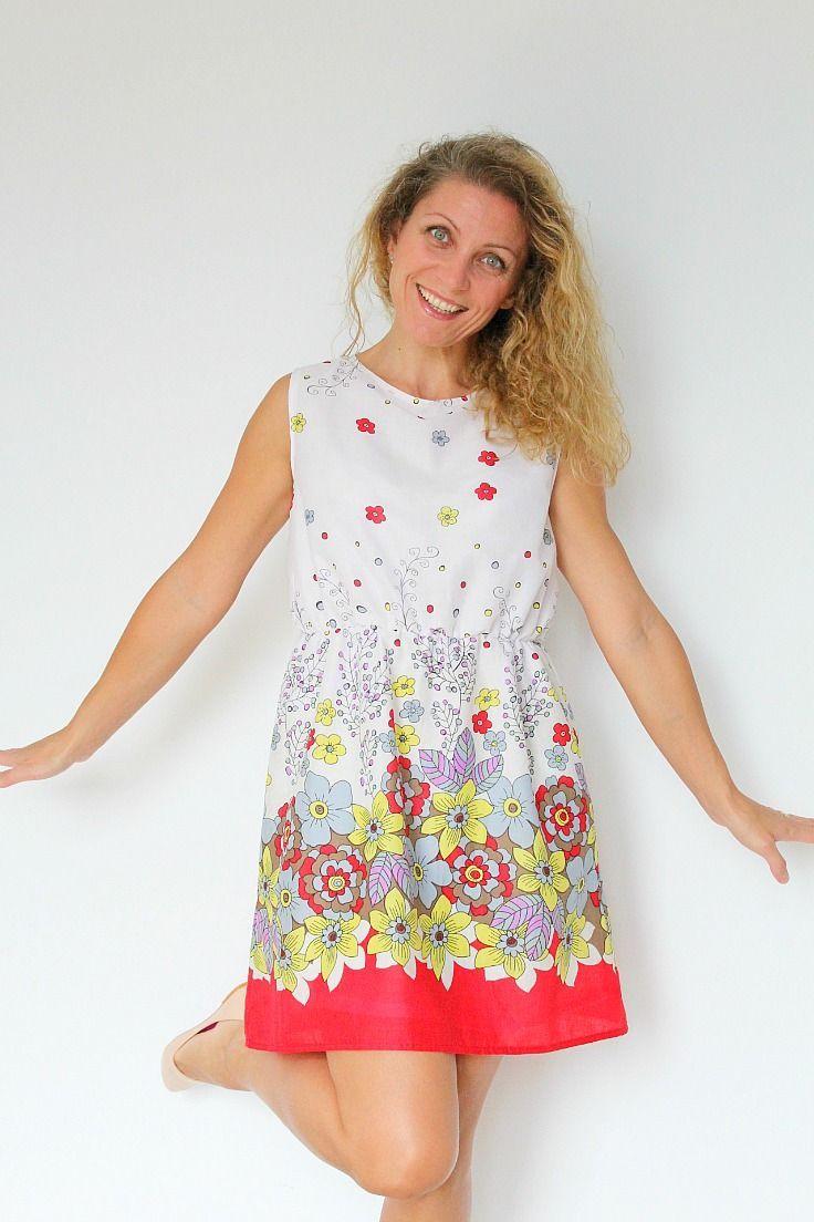 Women S Gathered Waist Summer Dress Pattern Summer Dress Patterns Dress Patterns Diy Diy Dress [ 1104 x 736 Pixel ]