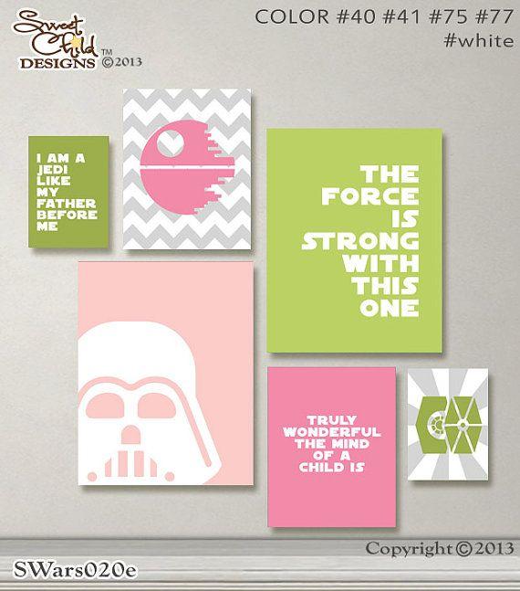 Baby Girl Nursery Art Star Wars Baby Nursery Decor Sith ...