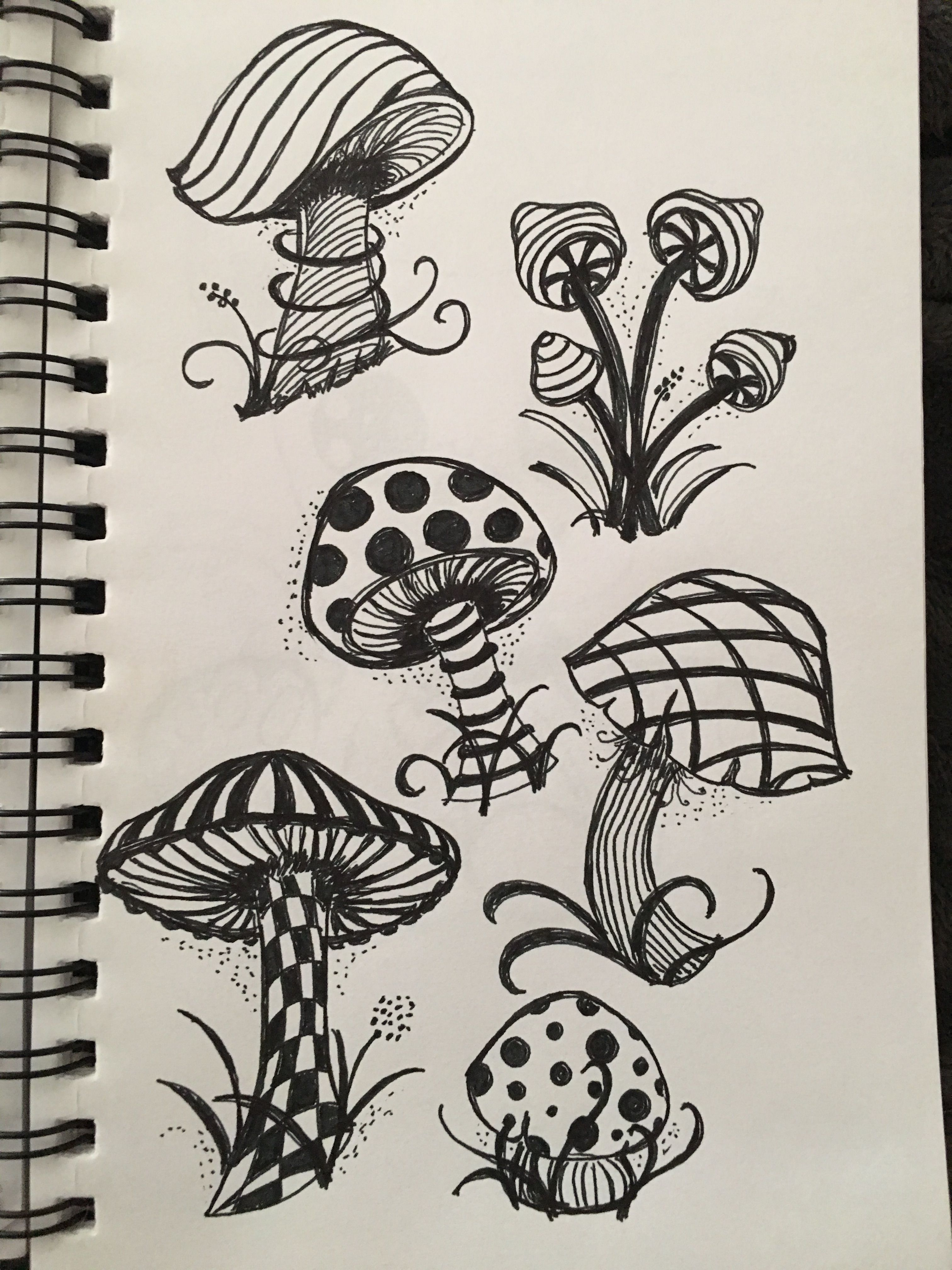 Trippy Mushroom Drawing : trippy, mushroom, drawing, Doodle, Psychedelic, Drawings,, Hippie, Painting