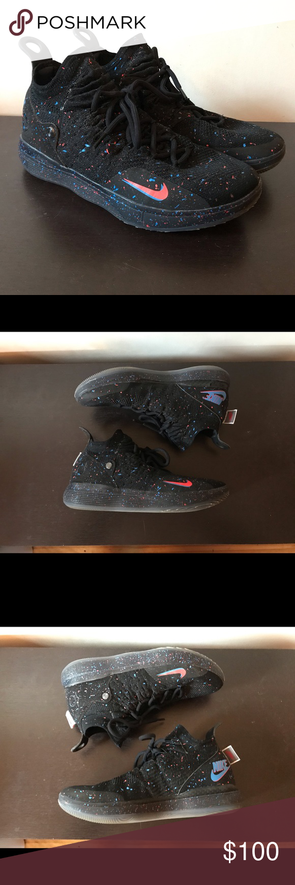 "Nike KD 11 Low ""Confetti"" size 8.5"