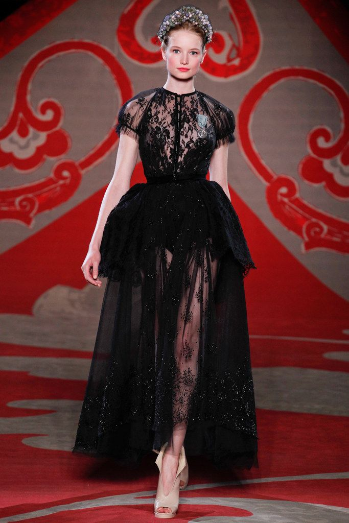 See the complete Ulyana Sergeenko Fall 2012 Couture collection.
