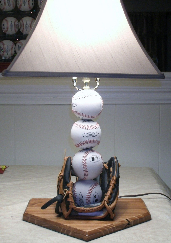Baseball table lamp oh baby pinterest baseball table room baseball table lamp geotapseo Image collections