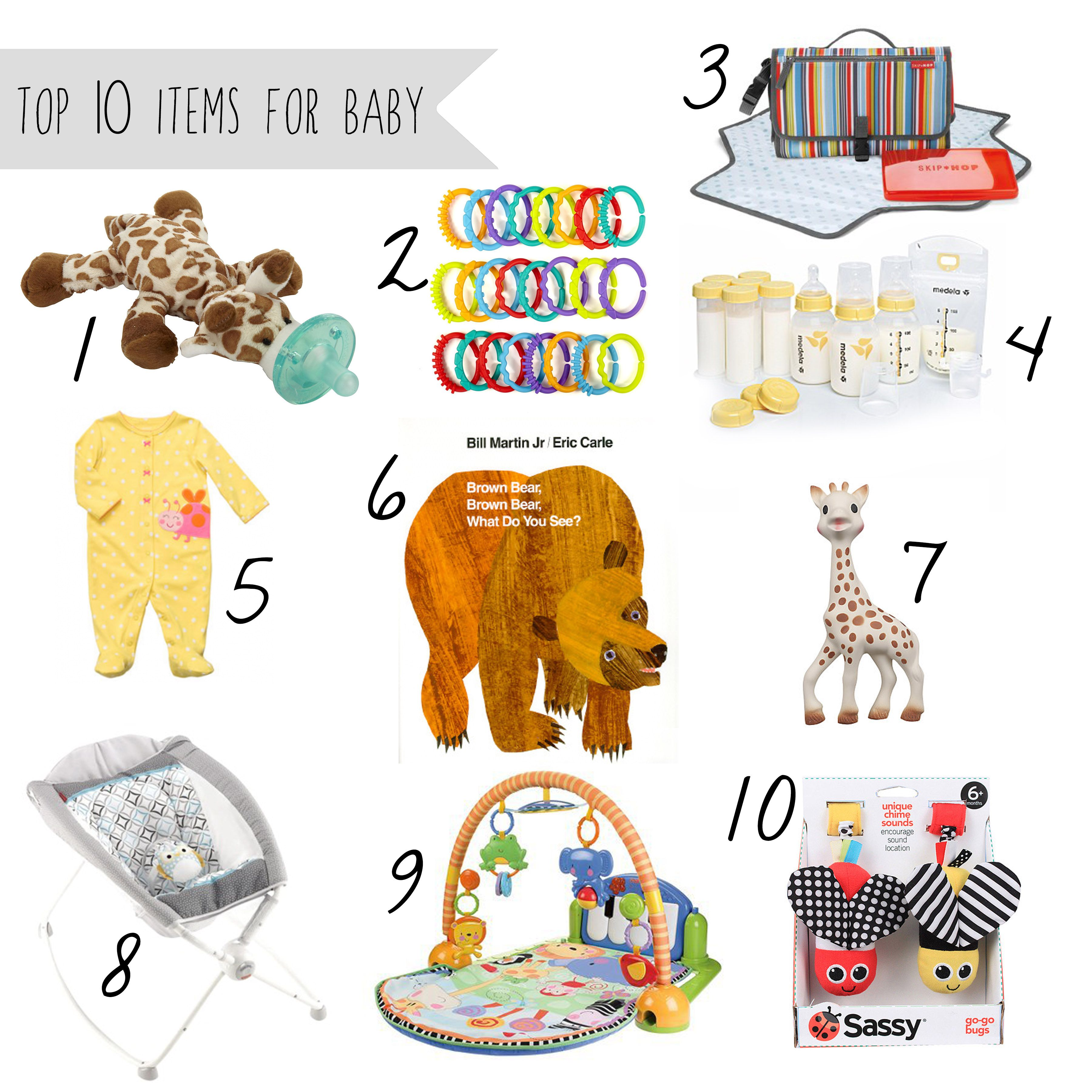Top 10 Items for Baby 0 6 Months