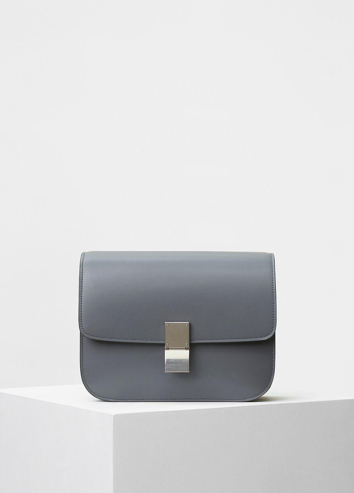 Medium Classic Shoulder Bag in Box Calfskin - Céline  856557a54bf1f
