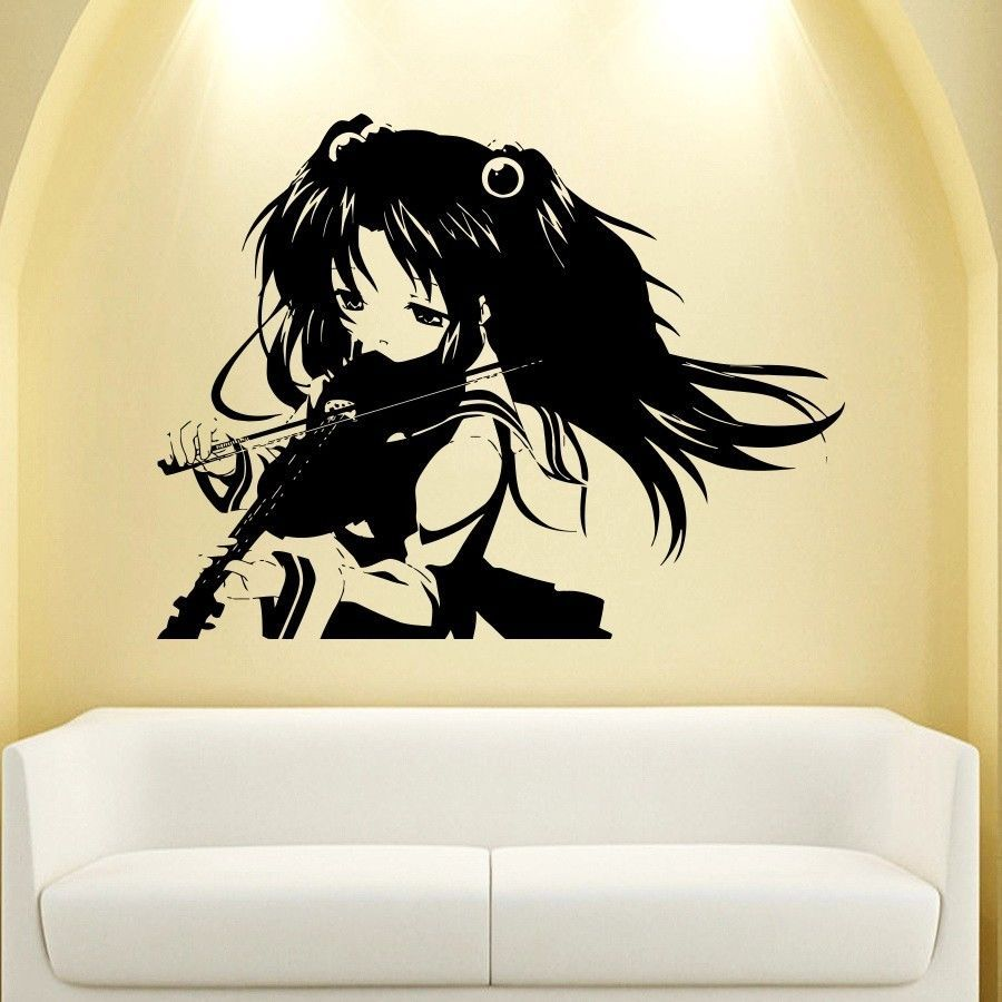 WALL VIINYL STICKER DECAL ART MURAL ANIME MANGA SEXY GIRL WITH ...