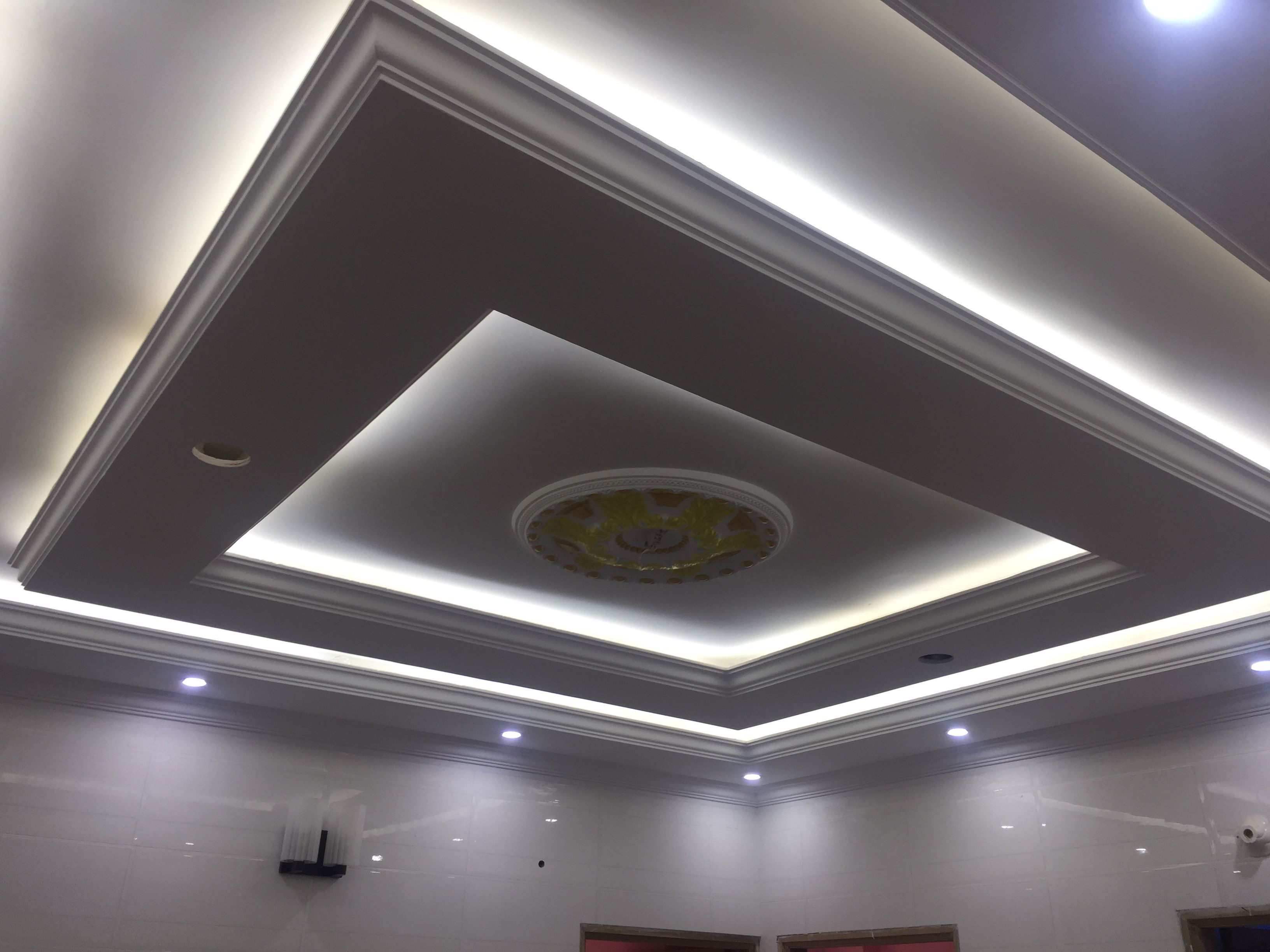 Led False Ceiling Lights For Living Room Led Strip Lighting Ideas In The Interior Nova Gypsum Decorati Ceiling Light Design False Ceiling False Ceiling Design