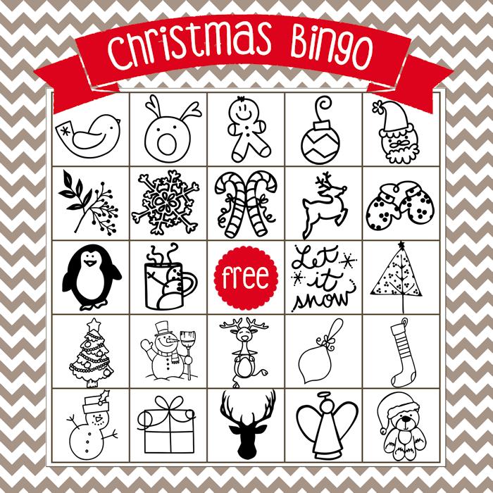 printable christmas bingo game in english and spanish the girl creative