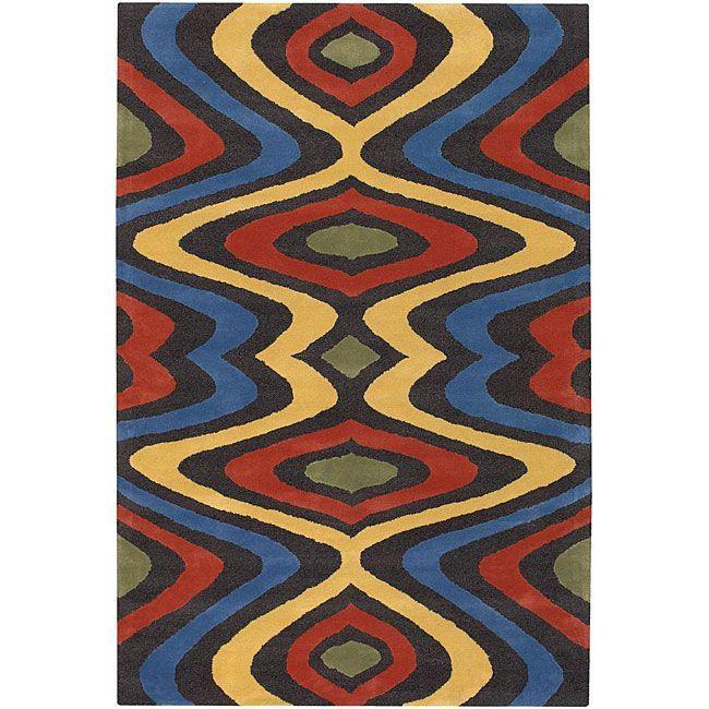 Artist S Loom Hand Tufted Contemporary Geometric Wool Rug