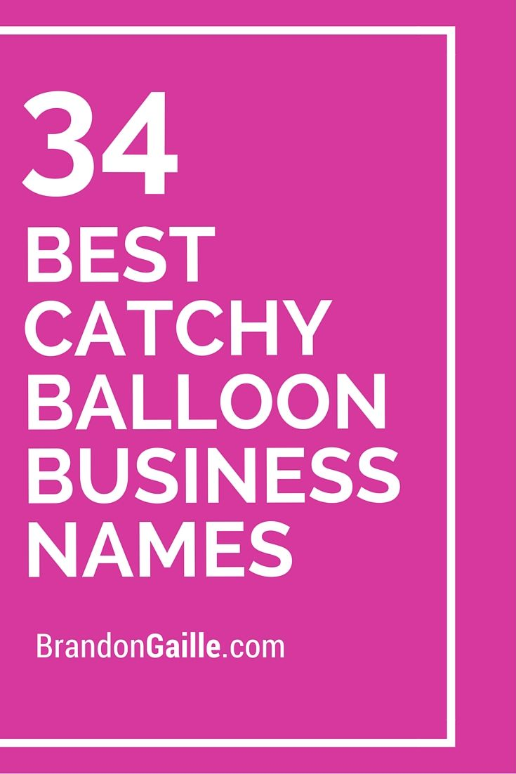 101 Best Catchy Balloon Business Names Business Names