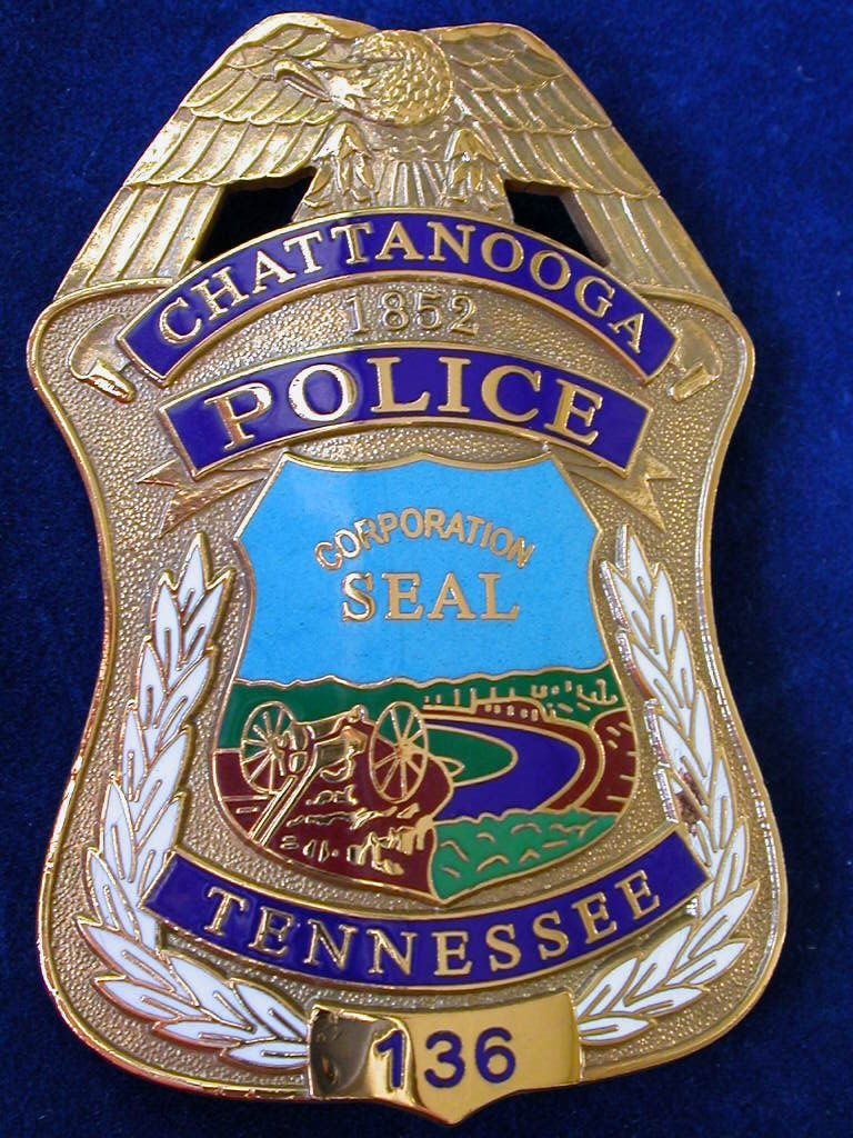 Chattanooga Tennessee Le Badges Fire Badge Police