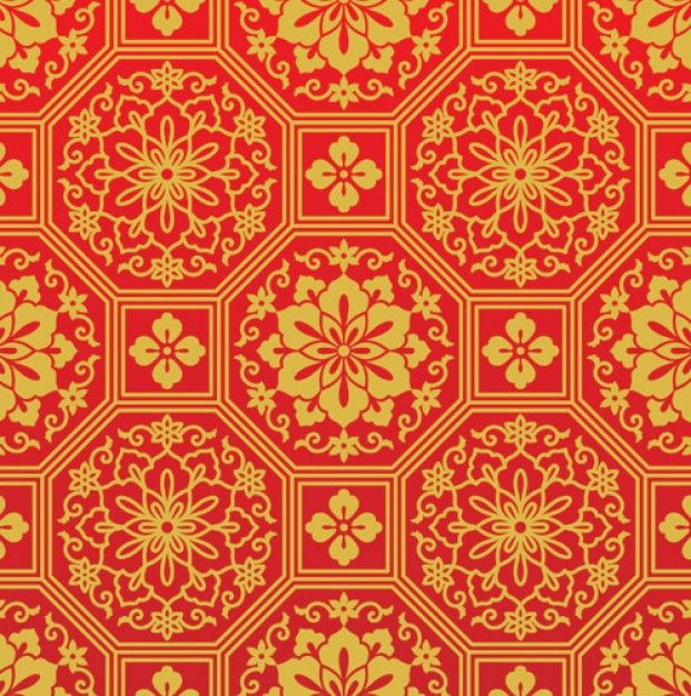 Red Chinese Pattern | Chinese red patterns or motif Free ...