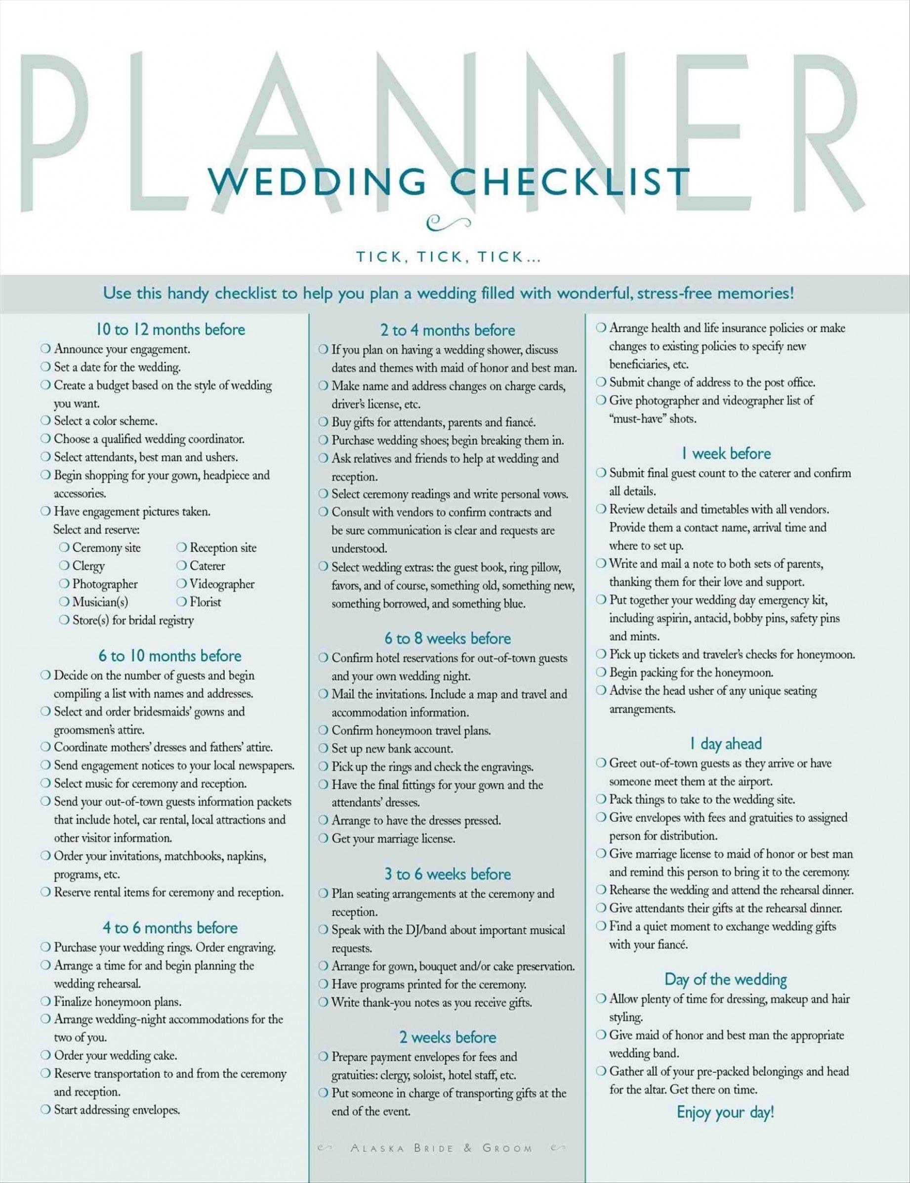 Wedding checklist the knot brides wedding coordinator